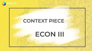 ECON III | GA Context Piece
