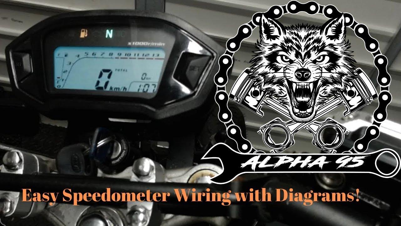 Easy Motorcycle Speedometer Wiring  How To  U0026 Diagrams