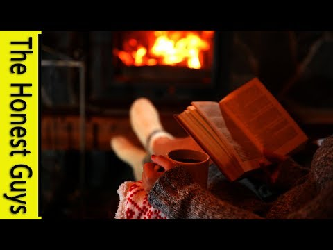 8 Hours of Fireplace Sounds with Howling Wind Ambience