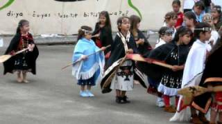 Makah Native American children in the canoe dance