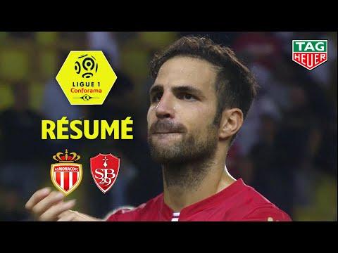 AS Monaco - Stade Brestois 29 ( 4-1 ) - Résumé - (ASM - BREST) / 2019-20