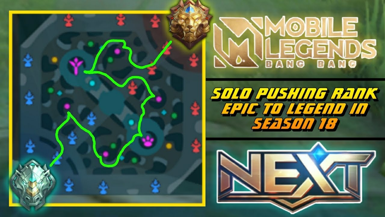 Solo Pushing Rank Epic to Legend in Mobile Legends Season 18 (Best Hero to Fast Rank Up in New ML)
