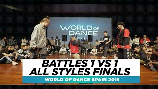 BATTLES 1 VS 1 HIPHOP FINALS   FRONTROW   World of Dance Spain Qualifier 2019   #WODSP19