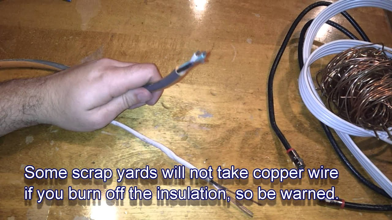 How To Sort And Recycle Scrap Metal Tip 3 Copper Wire Youtube Wiring