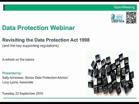 Revisiting the Data Protection Act 1998