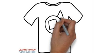 Easy Step For Kids How To Draw a t-shirt