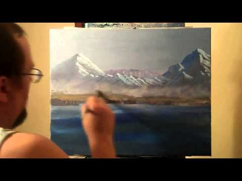 Big Divided Light. Seascape  speed painting in acrylic