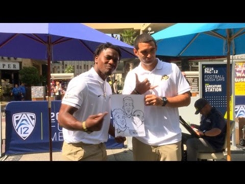 2016 Pac-12 Football Media Day: Colorado channels presidential presence at caricature station