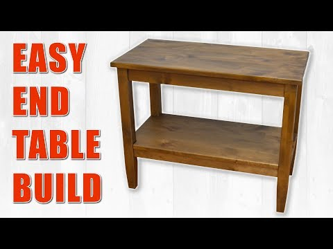 Colin Knecht's Easy End Table Build / Side Table DIY