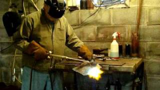 Acetylene, oxygen Welding and cutting, well Demonstrating Harris 43-2 torch