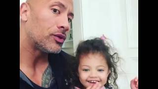 Dwayne Johnson&#39s 2-Year-Old Daughter Schools Him on &quotGirl Power&quot