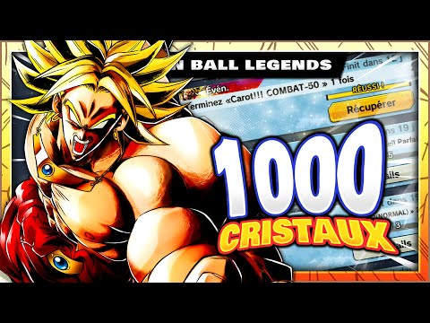 COMMENT AVOIR 1000 CRISTAUX DU TEMPS ? #1 CAROT!!! NIVEAUX 45/50 - DRAGON BALL LEGENDS FR