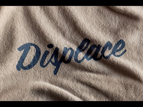 How to Conform Text to a Surface Using a Displacement Map in Photoshop