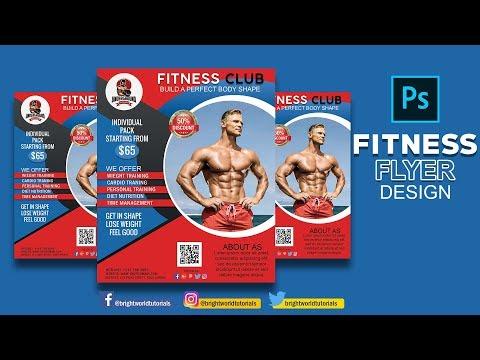 Fitness Gym Flyer Design - Photoshop CC Tutorial 2k19