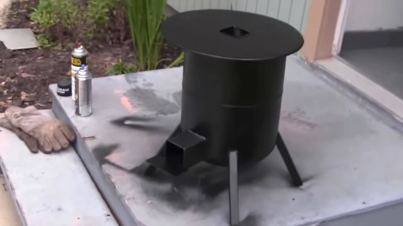 How to build a propane tank rocket stove 3 3 youtube for Make a rocket stove