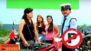 Traffic Corruption   Nepali Comedy Movie KANCHHI MATYANG TYANG   Jaya Kishan Basnet