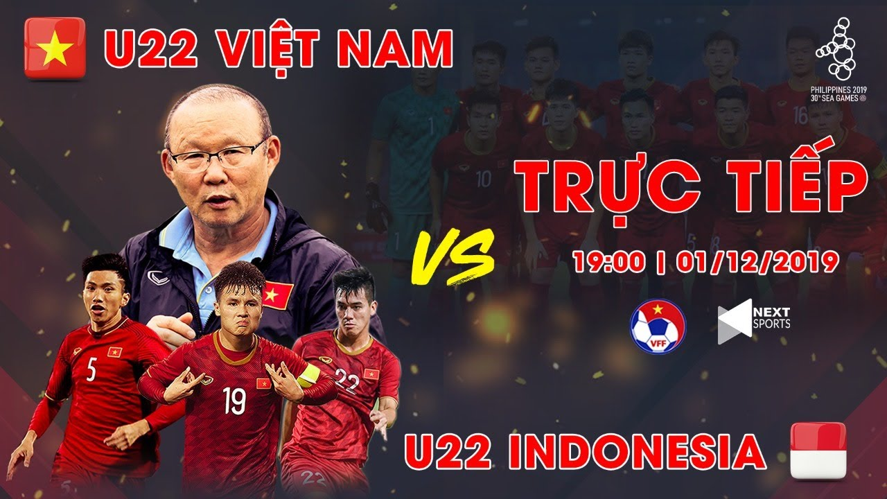 FULL | U22 VIỆT NAM – U22 INDONESIA | BÓNG ĐÁ NAM SEA GAMES 30 | VFF CHANNEL