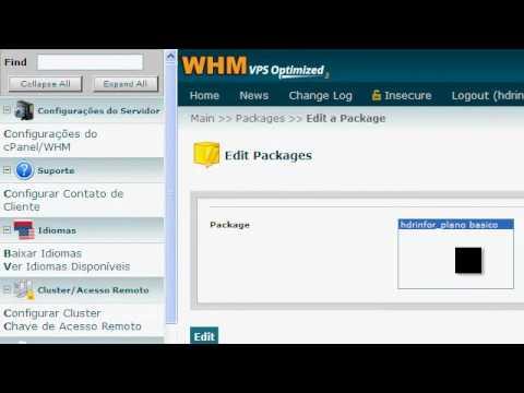 Criando pacote(plano) e conta de hospedagem no WHM/Cpanel