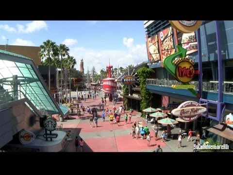 [HD] Universal Orlando Citywalk Tour - Florida
