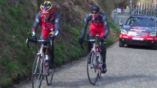 Lance Armstrong and Yaroslav Popovych Training on the Cobbles