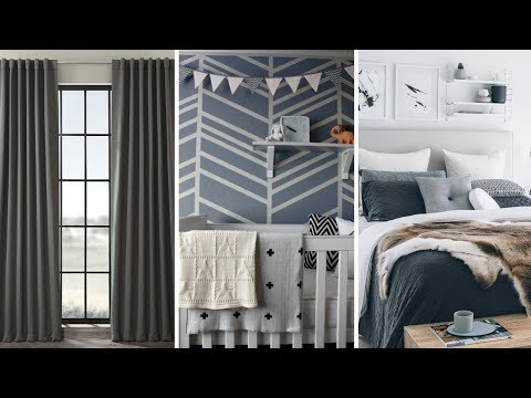 10 DIY Bedroom Decorating with Charcoal Gray