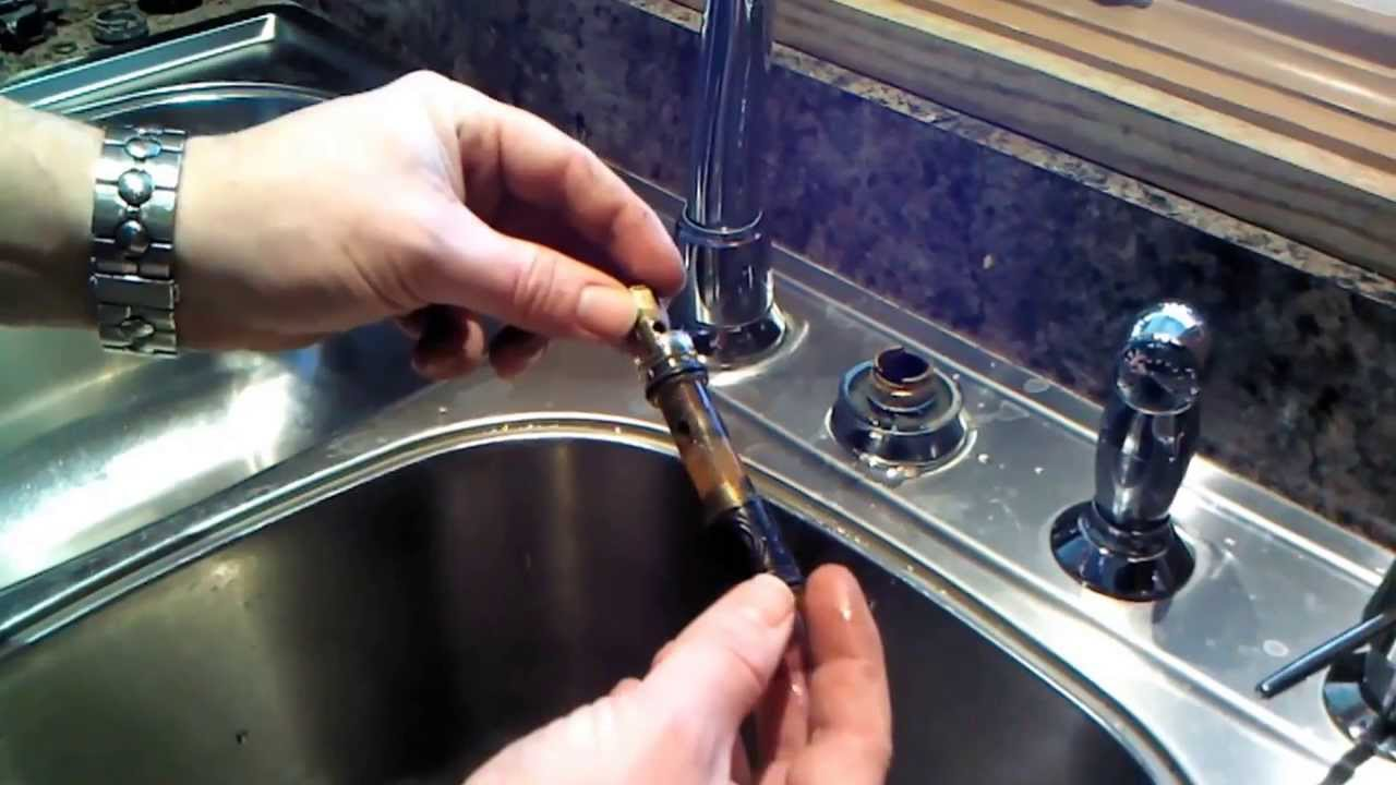 good Replace Kitchen Faucet Cartridge #1: Moen Kitchen Faucet 1225 Cartridge Repair or Replacement - YouTube