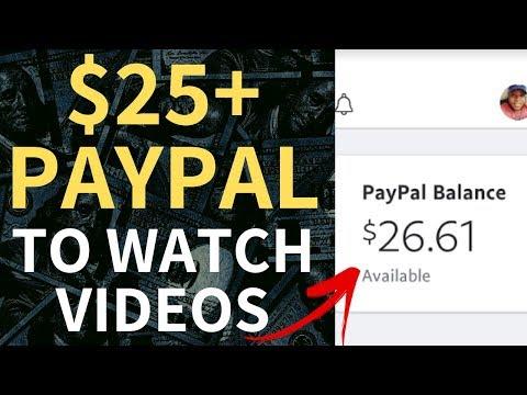Make Money Watching Videos - Get PayPal Money Free (Not MyPoints)