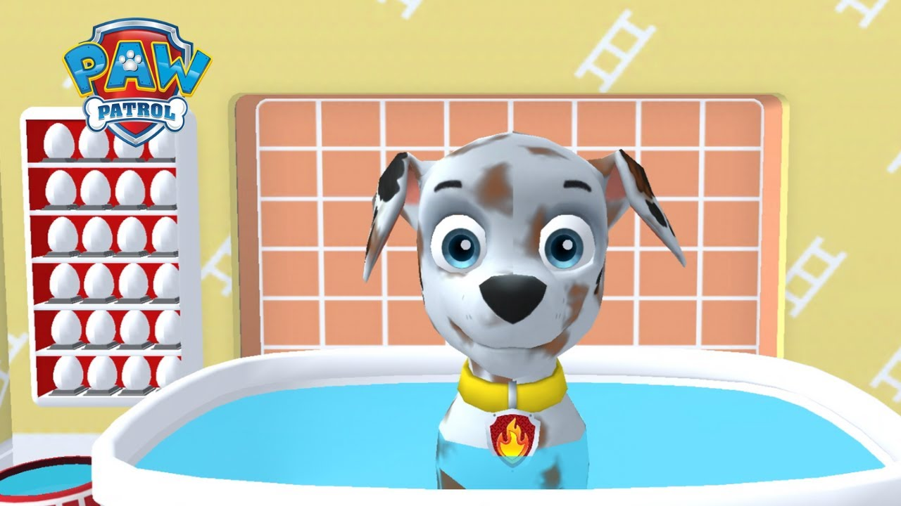PAW Patrol A Day in Adventure Bay! 🐶 Prepare MARSHALL: washing up YOUR PUP!