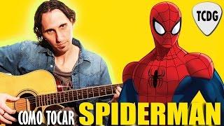 como tocar la cancin de spiderman el hombre araa en guitarra acstica para principiantes tcdg