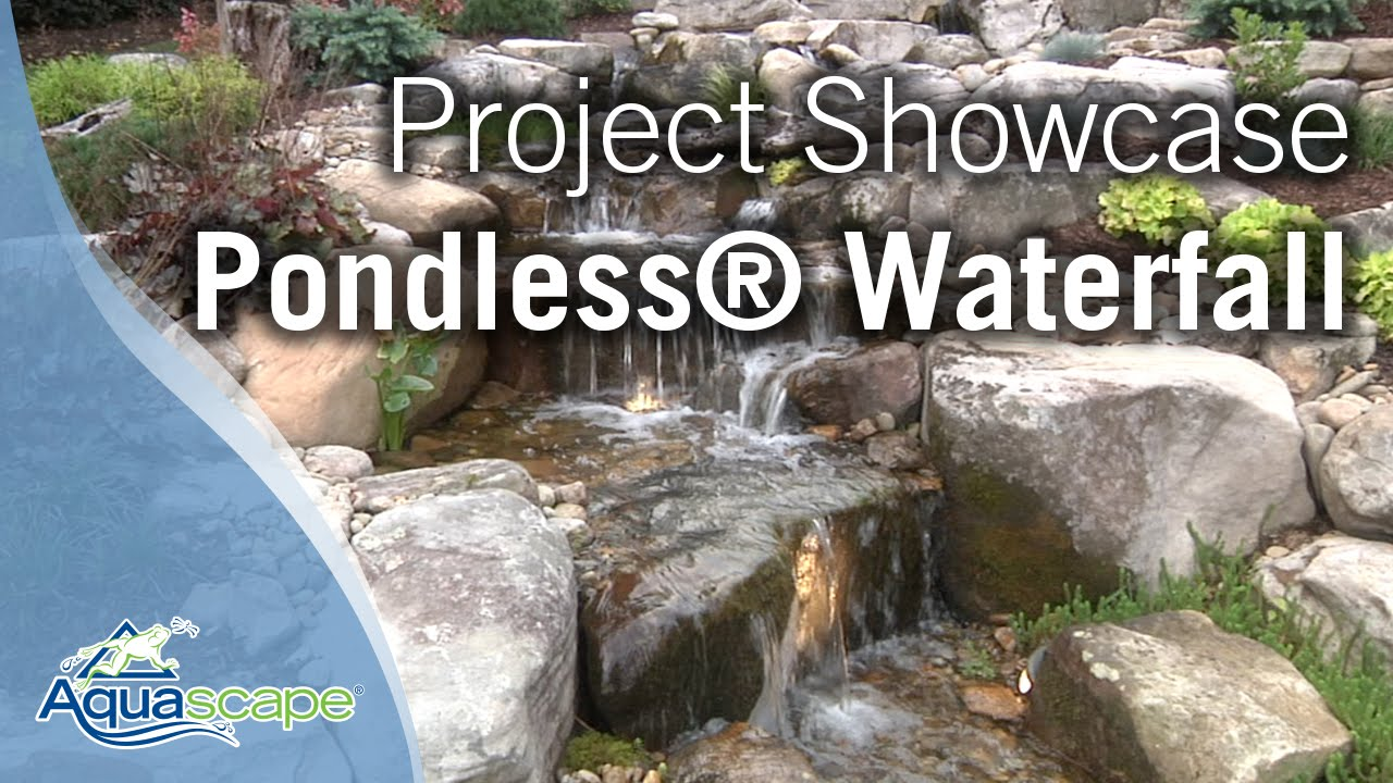 pondless waterfall project showcase youtube