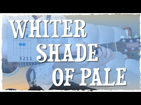 """""""A Whiter Shade Of Pale"""" Guitar Tutorial 