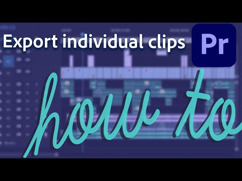 How to export timeline as individual clips in Premiere Pro