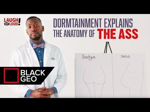 Grote natte Ebony ass