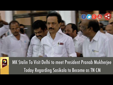 DMK MK Stalin To Meet President Pranab Mukherjee on VK Sasikala to be TN CM in Delhi