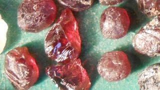 In search of a facetable gem stone (garnet).