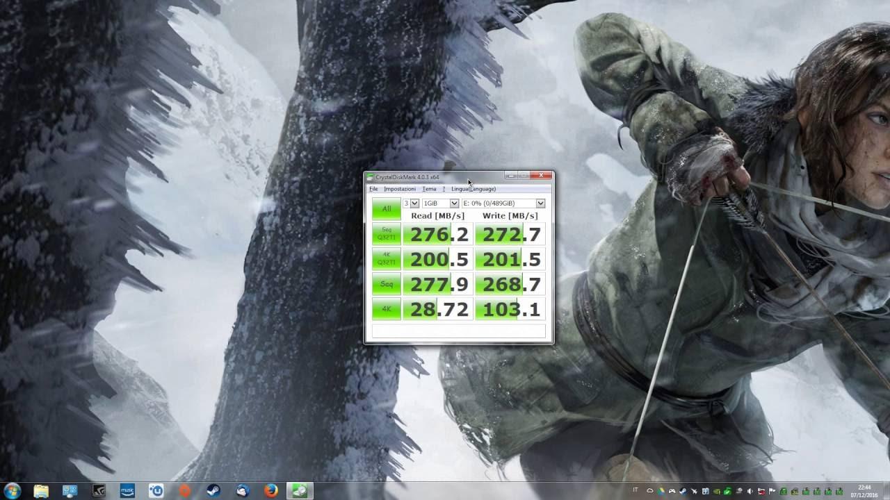 SSD on Sata II (3 Gb/s) Performance - CrystalDiskMark Benchmark 64 Bit -  Crucial MX300 525 Gb SSD