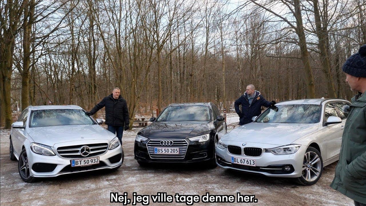 BMW 3 vs. Audi A4 vs. Mercedes C: Her er den bedste tysker! (dansk TEST 2018)