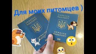 Паспорта для моих животных.