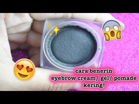 DIY Cara Benerin Eyebrow Cream/ Gel/ Pomade yang Kering! (Easy) | veronica christabella