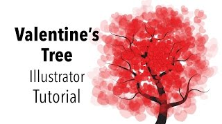 Valentines Day Tree - Illustrator Tutorial
