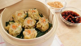 Shumai | Shrimp & Pork Dumplings | Kanom Jeeb ขนมจีบ - Hot Thai Kitchen!