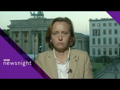 German right-wing leader challenged on immigration - BBC Newsnight
