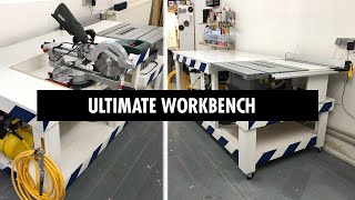 Making Table Saw Station with Flip Top Mitre Saw