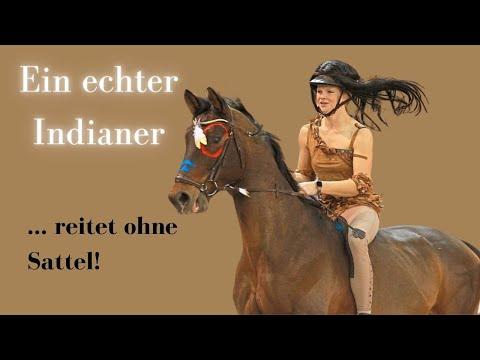 Ein echter Indianer reitet OHNE Sattel! 🐎 | Valerie Kampe & Sammy |K+K Cup Münster