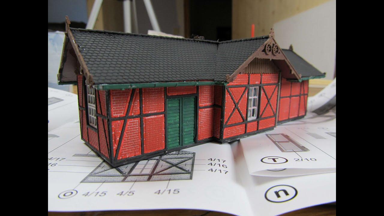 Modellbahn h0 faller bausatz 131214 breitenbach bauen teil for Modellhaus bauen