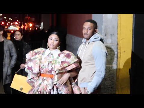 Nicki Minaj and husband Kenneth Petty at Marc Jacobs Fashion Show During NYFW