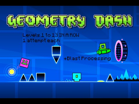 Geometry Dash: ( ALMOST ) ALL levels IN ONE GO