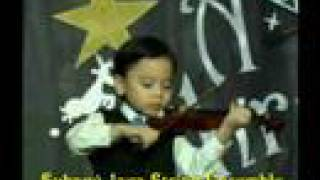 4 year old violinist performed Paganini little study    ( Malaysia )