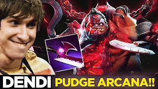 Dendi Mid Pudge with EPIC NEW ARCANA SET + Silver Edge Build -  Dota 2