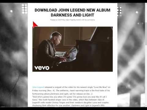 DOWNLOAD JOHN LEGEND NEW ALBUM DARKNESS AND LIGHT